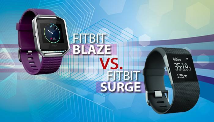 Compare Fitbit Blaze and Surge Head-to-Head