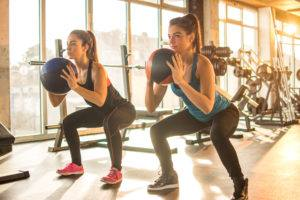 Women Working Out Together at the Gym