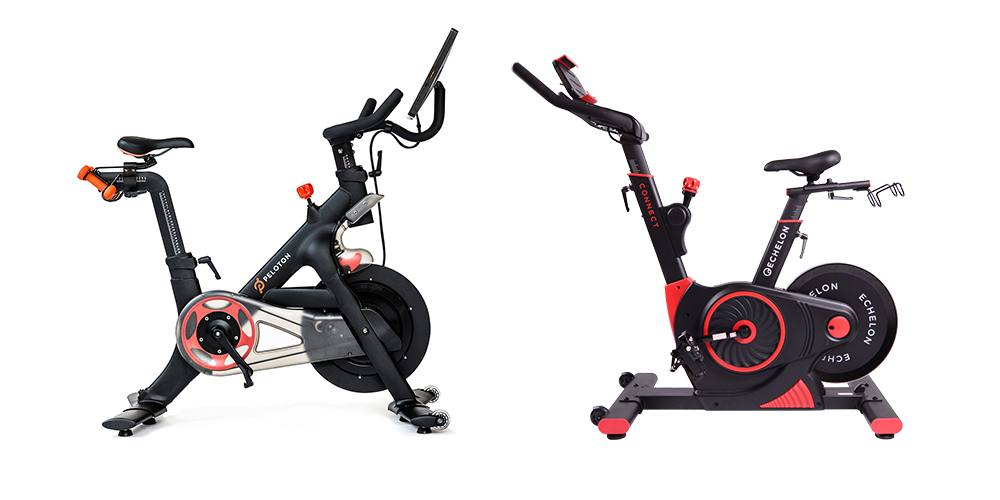 Peloton Bike vs Echelon Connect Bike, side by side.