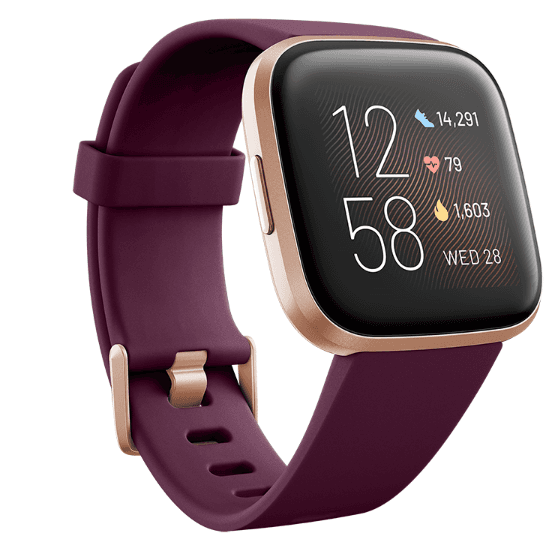 Fitbit Versa 2 - Bordeaux / Copper Rose Aluminum